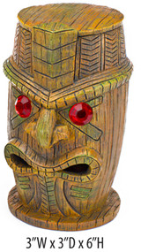 Penn Plax Tiki Statue With Ruby Eyes 6 In