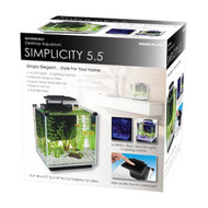 Penn-Plax Simplicity 5.5 gallon Cube Style Glass Desktop Aquarium