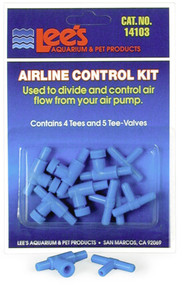 Lee's Airline Control Kit 4 Tees & 5 Two-Way Valves 2pk