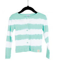 Cardigan Dyed Stripe-Blue