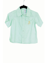 Gingham Camper Shirt-Blue