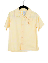 Gingham Camper Shirt-Yellow