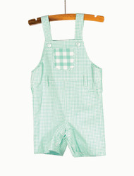 Gingham Overalls Blue