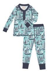 Space Ships Kids Rib Long John Set
