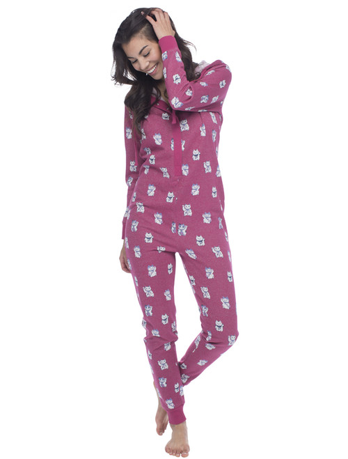 Lucky Cat Sparkle Fleece Onesie (M01465)