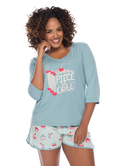 Piece of Cake Jersey Tee Shirt PJ Set (M01583)