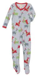 Light Gray Llamas Thermal Blanket Sleeper (MK01003)