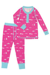 Bunny Love Long John PJ Set