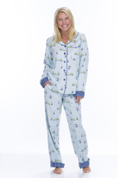 Light Blue Snow Gnomes Flannel Classic PJ (M01694)