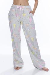 Light Gray Fancy Drinks Flannel Pant (M01738)
