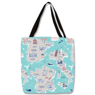Travel Maps Tote Bag