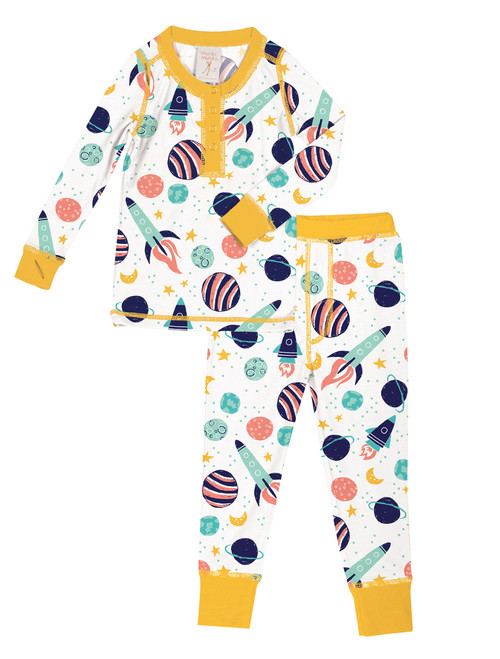 Spaceships Kids Long John Set