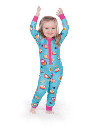 Breakfast in Bed Kids Union Suit