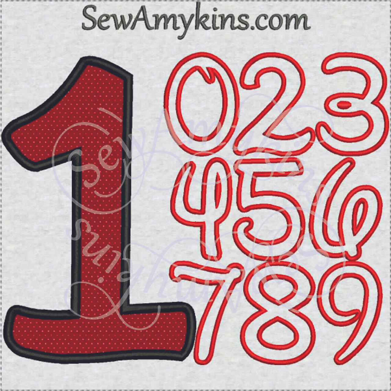 Disney Number Applique Machine Embroidery Designs Numbers