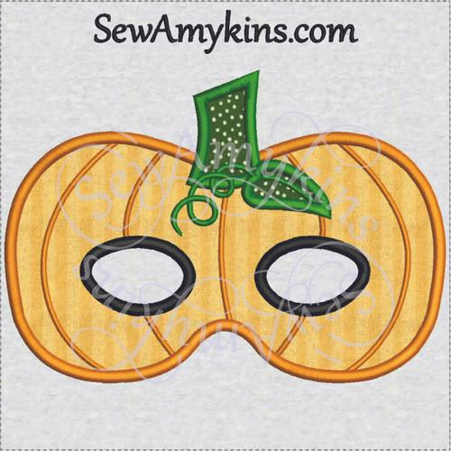 pumpkin jack o lantern halloween mask applique machine embroidery design