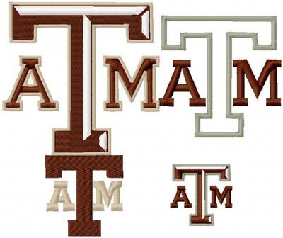 Texas Aggie Machine Embroidery Designs