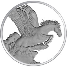 2014 Year of the Horse - Pegasus 1oz Silver Proof Tokelau Coin - Reverse