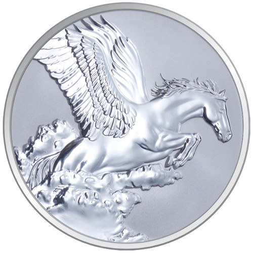 2014 Year of the Horse - Pegasus 1oz Silver Reverse Proof Tokelau Coin - Obverse