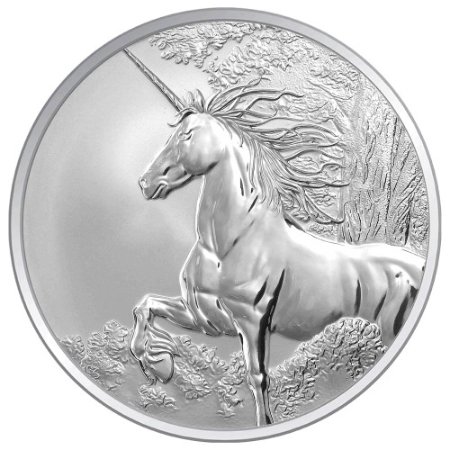 Creatures of Myth & Legend - Unicorn 1oz Silver Reverse Proof  Tokelau Coin - Reverse