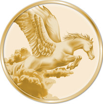 Creatures of Myth & Legend 0.5g Gold Pegasus Tokelau Proof Coin