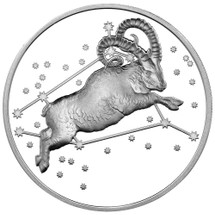 2015 Creatures of Myth & Legend - Aries 1oz Silver Proof Tokelau Coin from Treasures of Oz