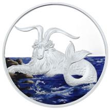 2015 Creatures of Myth & Legend - Capricornus 1oz Silver Coloured Proof Tokelau Coin by Treasures of Oz