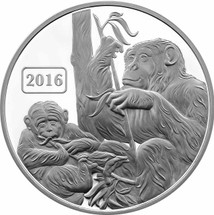 Monkey Family 1oz Proof Tokelau coin
