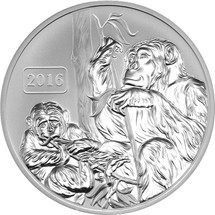 Monkey Family 1oz Reverse Proof Tokelau Coin