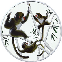 Playful in Bamboo - 1/2oz Silver Proof Tokelau Year of the Monkey coin