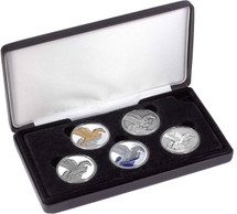 Limited Edition Pegasus 1oz Silver Typeset Collection.  Five pure silver coins as legal tender of Tokelau.
