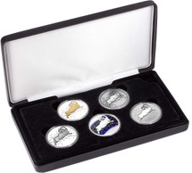 Aries Typeset Collection is limited to just 150 sets and contains five 1oz pure silver coins in a variety of finishes