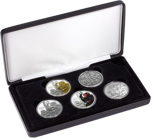 The Monkey Family 1oz Silver Typeset Collection - limited edition of 150 sets.