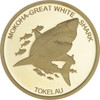The 2015 Tokelau Mokoha - Great White Shark 0.5g pure gold coin