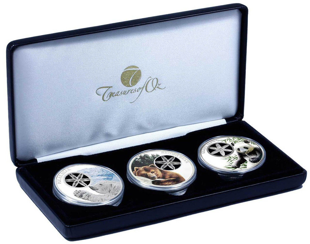 Snowflake Bear Trilogy Coin Collection Treasures Of Oz