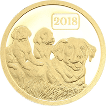 0.5g Pure Gold Year of the Dog Tokelau Coin