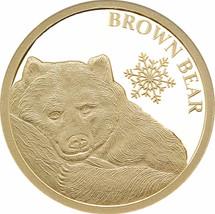 Brown Bear 05g Gold Tokelau Coin