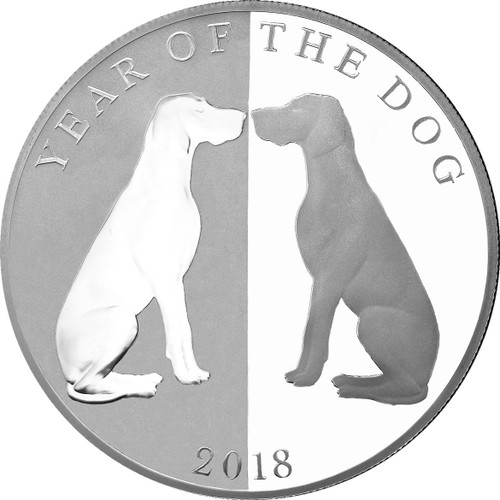 Mirror Dog 1oz Proof Silver Tokelau Coin