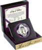 Stunning presentation - the 2018 Lady of Fortune Diamondesque Silver Coin