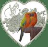 Love Birds Heart-shaped Tokelau Silver Coin 2018
