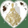 Bride & Groom heart-shaped Tokelau Silver Coin 2018