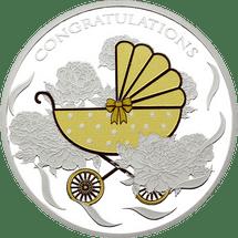 Baby Pram Tokelau 1oz Silver Coin 2018