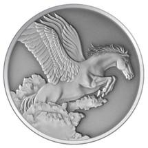 Creatures of Myth & Legend - 2014 Pegasus 1oz Silver Antique Tokelau Coin - Reverse