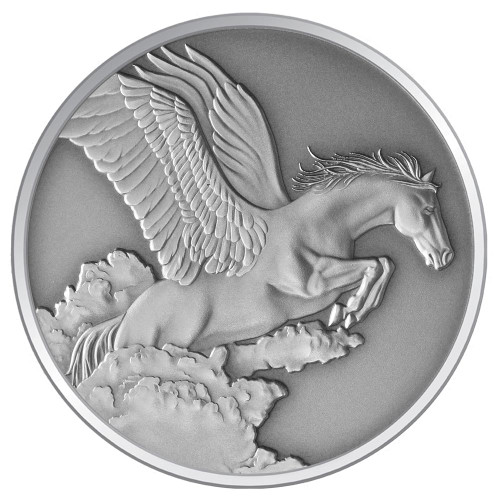 Creatures of Myth & Legend - 2014 Pegasus 1oz Silver Antique Tokelau Coin - Reverse