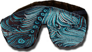 Adjustable Sleep Eye Mask - Poly or Flax Seed Filled - Dual Sided Satin Brocade & Crushed Velvet