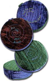"15"" Embroidered Crushed Velvet - Yoga Meditation Zafu Floor Cushion Pillows - Buckwheat Hull Filled"