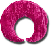 Hot Pink - Neck Pillow Moon Wrap - Support Pillow - Crushed Velvet - by Candi Andi