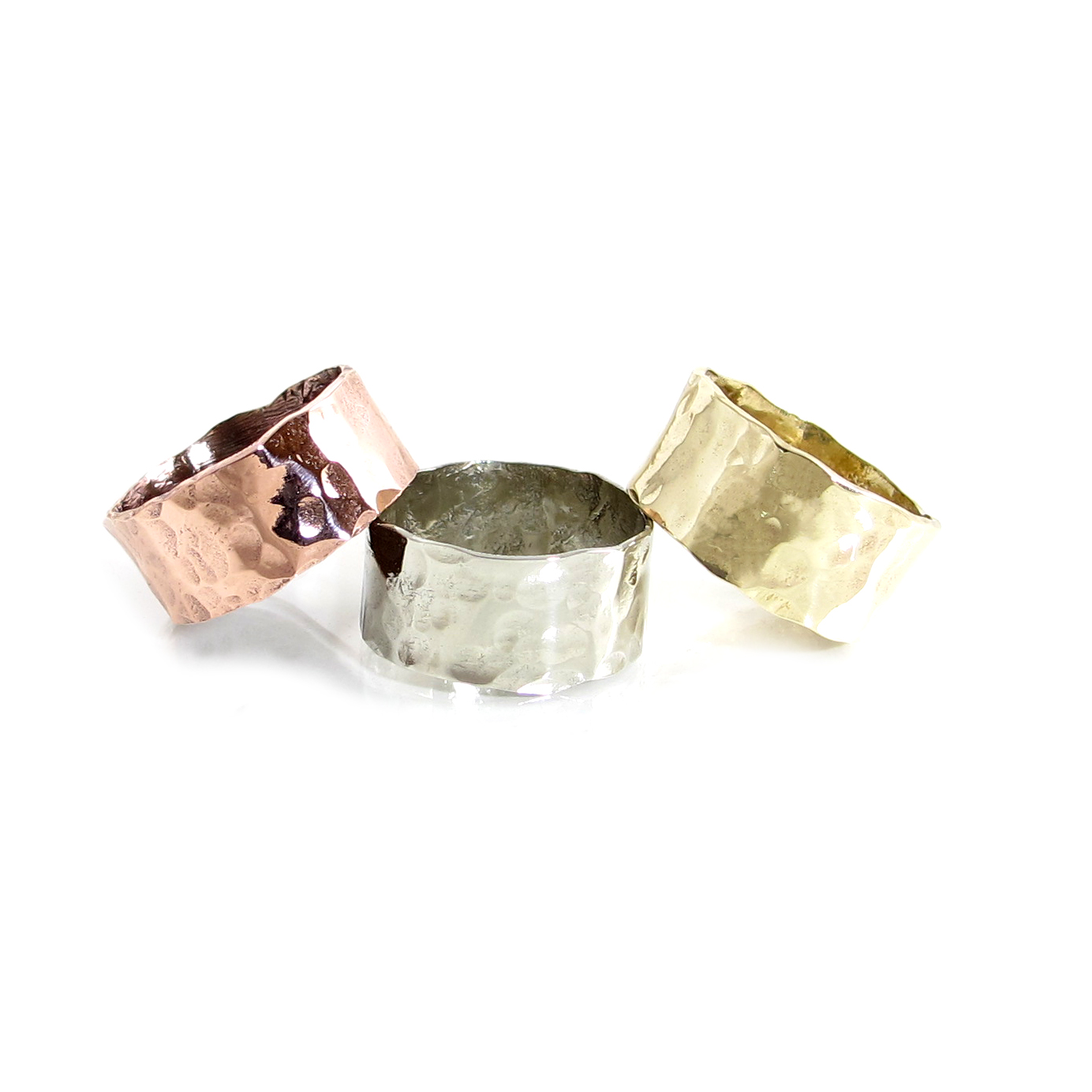 Wide Hammered Rings