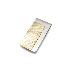 two tone gold and silver money clip