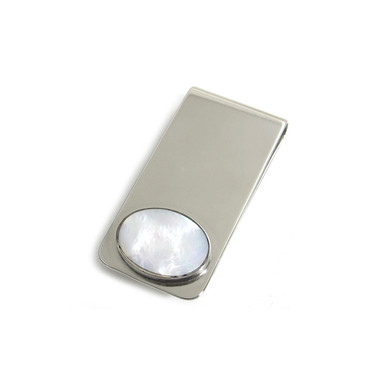 Mother of Pearl Oval Inlay Money Clip