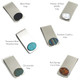 Stone Options Inlay Money Clips